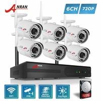 ANRAN Plug PlayP 8CH Network WIFI NVR Outdoot Bullet 36IR Day Night 720P Wireless IP Camera