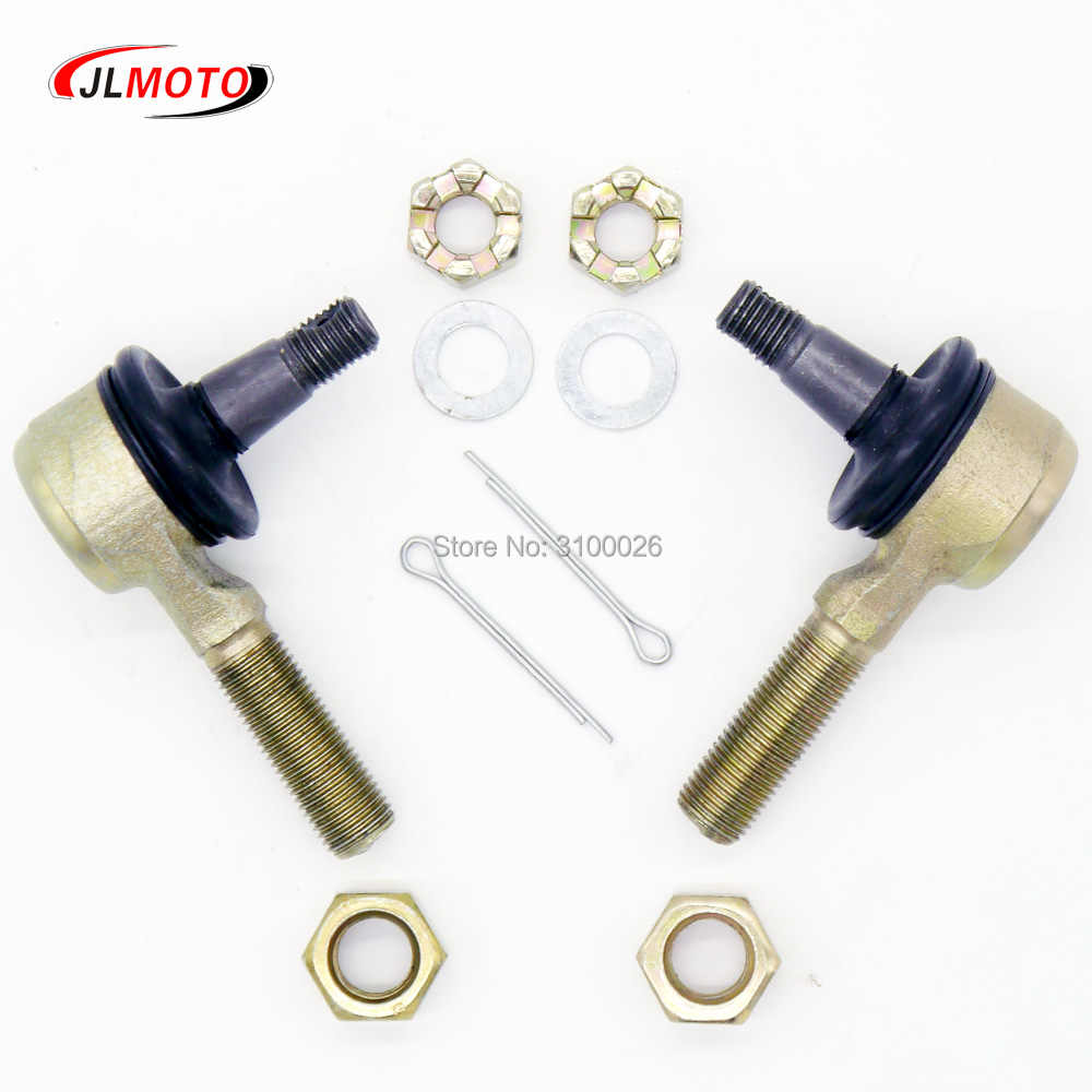 1 Pair M12 Tie Rod End Kit Fit For Arctic Cat 09-13 150 2x4 06-09 250 2x4 10-15 300 Kawasaki KFX400 450R Yamaha CFMOTO z6/z8/z10