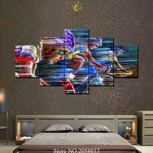 3-4-5 Pieces Abstract Riding Bikes Modern Wall Art Canvas Printed Painting HD Prints Modular Poster Pictures for Home Decor