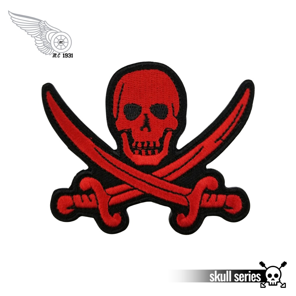 US Seller PIRATE iron on//sew on Embroidered Patch Applique DIY Halloween