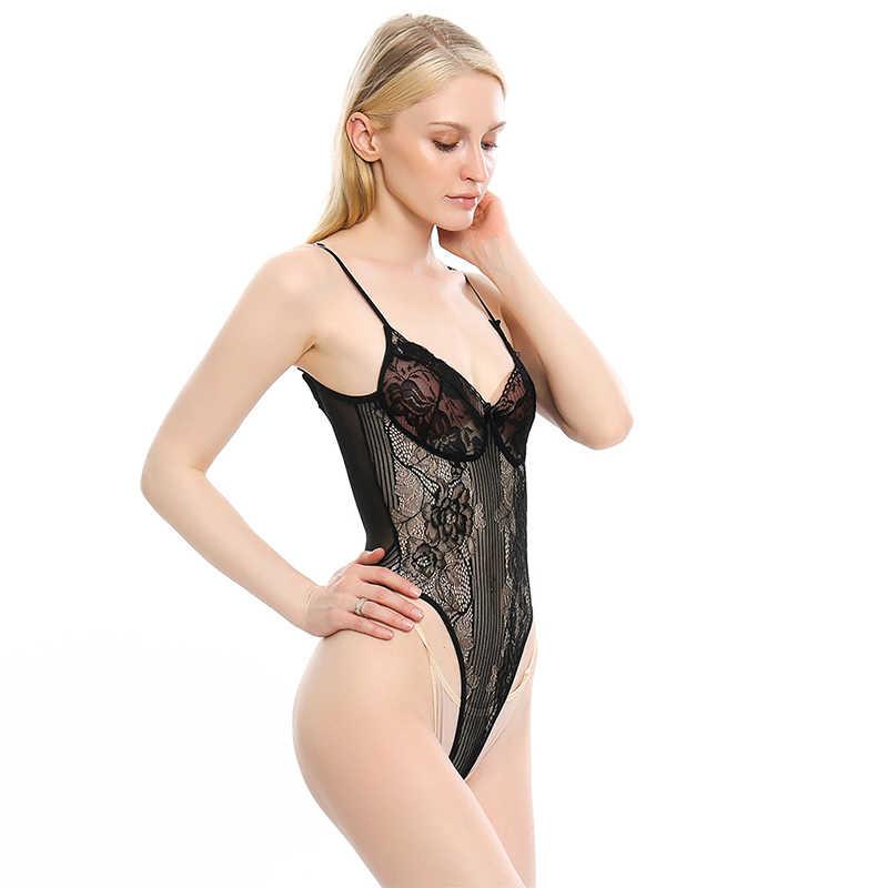 Di alta Qualità Sexy delle donne Senza Spalline Bow Scavato Del Merletto di Modo Skinny Tuta Casual Low Cut Backless Del Randello Del Partito Tute