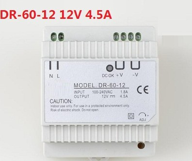 60W 12V 5A single output din rail type power supply 12 volt ac dc transformer60W 12V 5A single output din rail type power supply 12 volt ac dc transformer