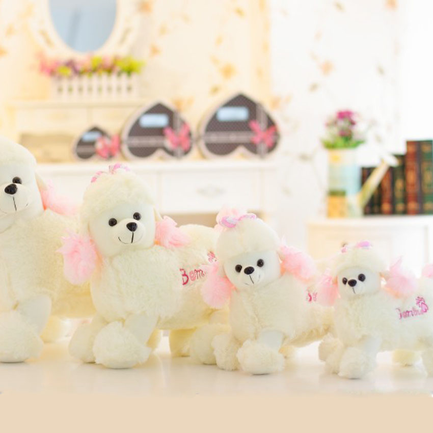 2017 New Hot Sale Plush Dog Poodle Toy Lovely Children presents Stuffed Animals Dolls Cute Gift Toy Stuffing