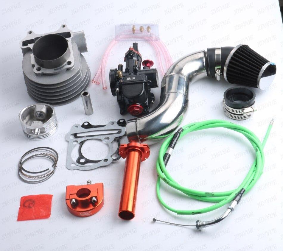 Carburetor PWK26 GY6 157QMJ 150cc 57.4mm Cylinder Cylinder Head Air Filter CDI A8 Cam Throttle High Pressure Pack Large CNC pwk high performance 38mm air striker