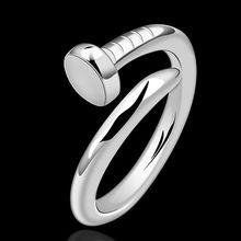 Verano fina estilo platea los anillos plateados 925-sterling-silver joyería del clavo para para SR591