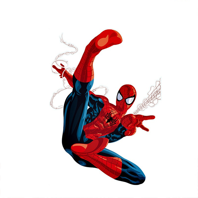 3d effect hero spiderman wall stickers for kids rooms-Free Shipping 3D Wall Stickers For Kids Rooms