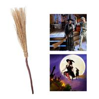 PBPBOX Fantasy Witch Broom Witch Accessory Creeping Weed Broom For Halloween Costume Party