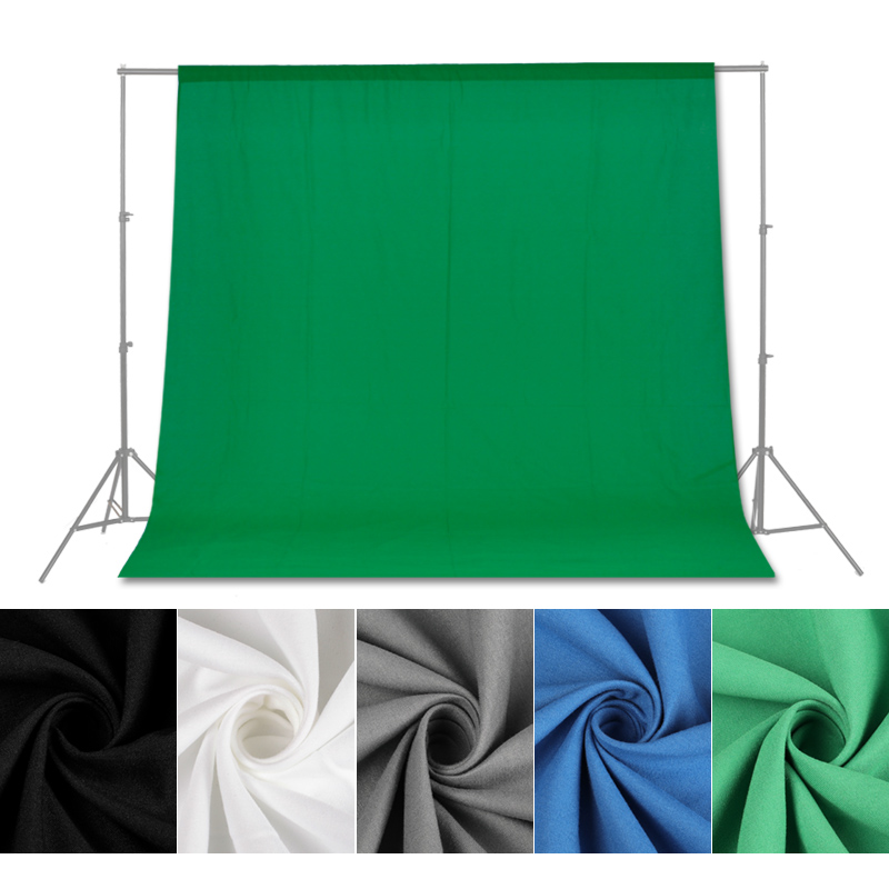 Photography Backdrops Green/White/Black/Blue/Grey Muslin Polyester-cotton Professional Background for Photo Studio Various SizesPhotography Backdrops Green/White/Black/Blue/Grey Muslin Polyester-cotton Professional Background for Photo Studio Various Sizes