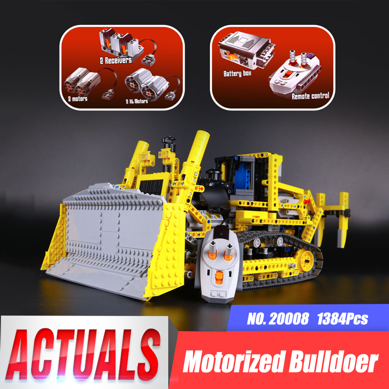 LEPIN 20008 Technic Series Remote Control The Bulldozer Model Educational Toys Building Block Bricks Gifts Kits legoing 42030 lepin 20008 technic series remote contro lthe bulldozer model assembling building block bricks kits compatible with 42030