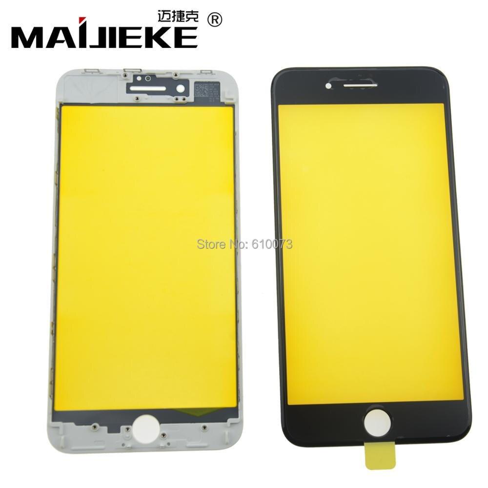 10 PCS MAIJIEKE AAA Froid Presse 2 en 1 Avant Lentille En Verre avec cadre pour iphone 8 8 plus Écran Tactile de Remplacement Du Panneau Noir blanc
