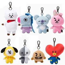 2018 New Arrival Cute Hot Kpop BTS Plush Toys Doll Keychain Key Ring Stuffed Toy Baby Kids Gifts(China)