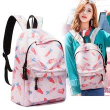 New School Bags Girl Backpack Women Mochila Mujer Feminina Bagpack Sac A Dos Female Travel College Pink School Bags Bolsa Fruit цена