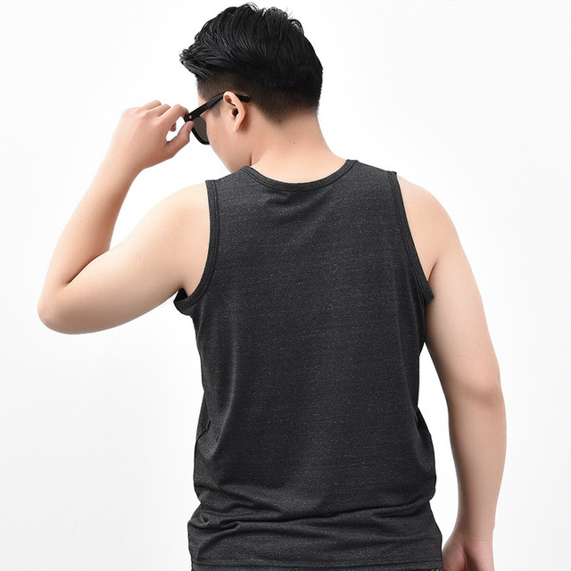 Summer Casual Nightshirt For Men Sleeveless Vest Home Wear Solid Basic Sleep Shirt O-Neck Lingerie Plus Size 3XL 4XL 5XL 6XL
