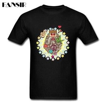 Funky Hippie Men T-shirt Funny T Shirt For Men Short Sleeve Cotton Custom Big Size Summer Tees For Team