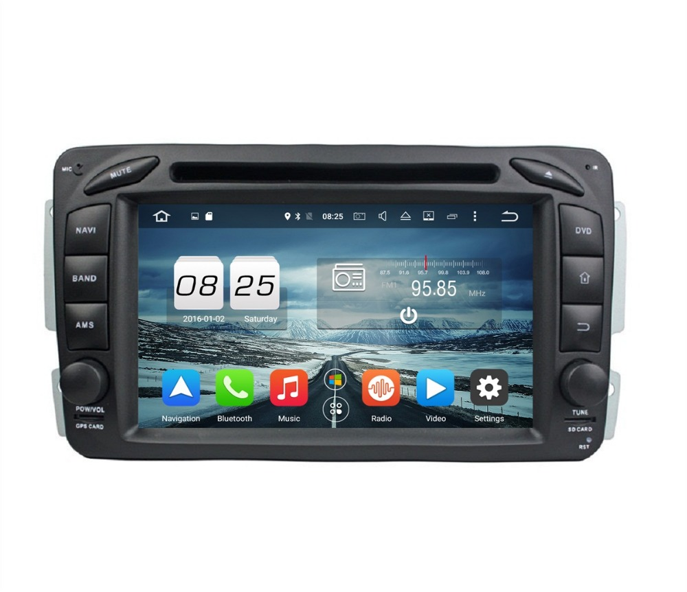 Octa core 7 android 6 0 car radio dvd gps for mercedes benz ml w163 clk