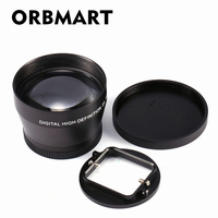 ORBMART 52mm Professional Digital Camera DSLR Accessory 2 2x Zoom Lens Telephoto For Gopro Hero 5