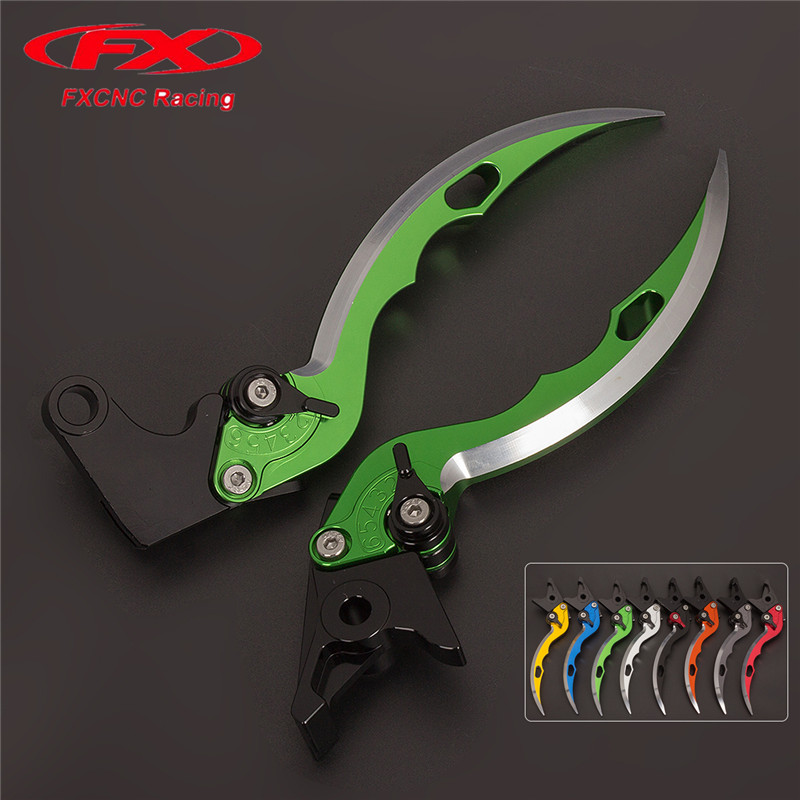 FX CNC Aluminum Adjustable Motorcycles Knife Blade Brake Clutch Levers For HYOSUNG GT250R 2006 - 2010 2009 08 GT650R 2006 - 2009 fulljion 1pcs oblique head blush brush multi function foundation powder makeup brushes cosmetics tools wood handle 7 colors