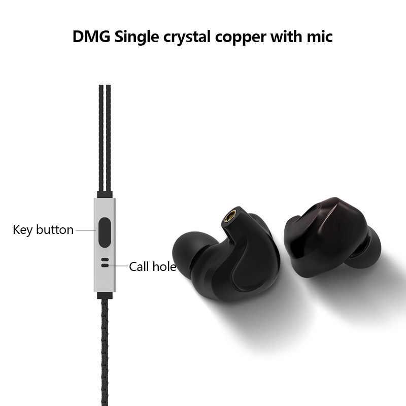 BGVP DMG 2DD + 4BA Hybrid w ucho słuchawka Hi-Fi DJ monitora sportowe słuchawki do biegania zatyczki do uszu słuchawki douszne MMCX wymienne kabel