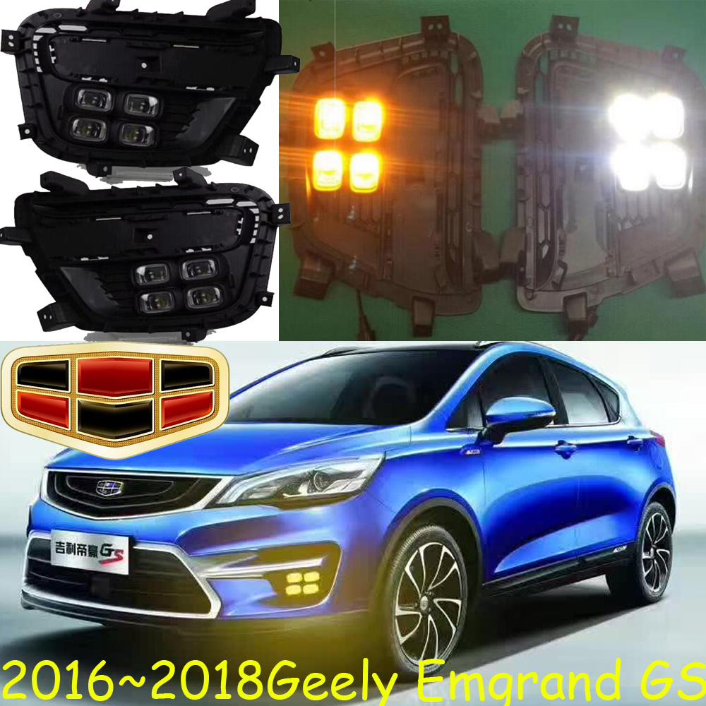 Geely Emgrand GS daytime light;2016 2017 2018year,LED,2PCS/SET, Free ship!GS fog light,EC7,EC8 GS headlight коврик в багажник geely emgrand ec7 rv 2011