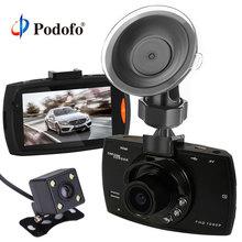 Podofo Dual Camera Car DVR G30 Dash Cam Full HD 1080 p Video Recorder Registrator Con Il Backup Videocamera vista posteriore di Visione Notturna dvr