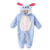 Invierno Marca Mamelucos Del Bebé Recién Nacido Ropa de Bebé Unisex de Manga Larga Caliente del Otoño Muchachos de Los Bebés Ropa de Franela de Dibujos Animados Mono