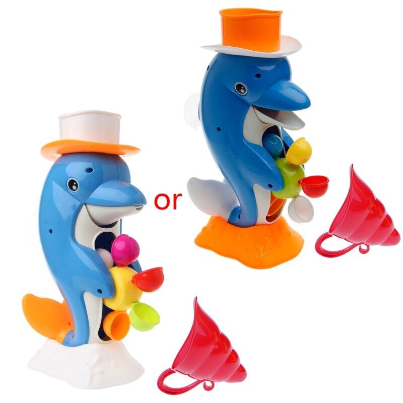 Hot Cute Dolphin Bath Shower Wheel Toy Baby Kids Water Spraying Tool Bathroom Gift