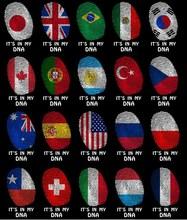 USA/Spain/Portugal/Czech/UK/Russia/Poland/Switzerland/Turkey/Japan/South Korea/Australia/France Men Cotton Flag Print Shirts Tee
