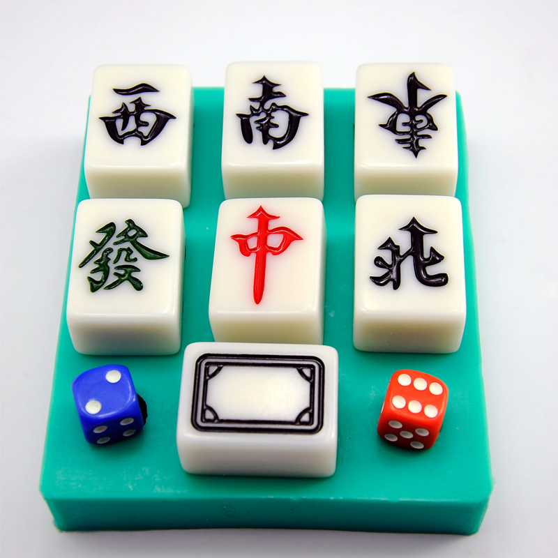 Diy Easy To Release Silicone Mahjong Chocolate Mold The Whole Set Of