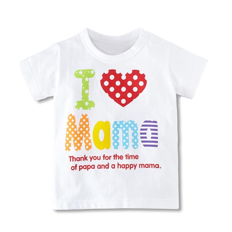d04f46e69a1e0 Hot vente bébé garçons filles t - shirt je aime Ma Ma série enfants t - shirt  vêtements pour enfants Tops gros