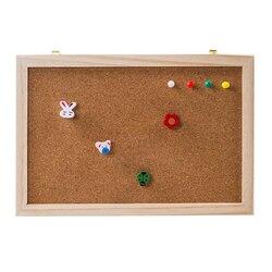 Пробковая деревянная доска для сообщений из пробкового дерева, деревянная подвесная доска из пробкового дерева, деревянная рамка, одинарна...