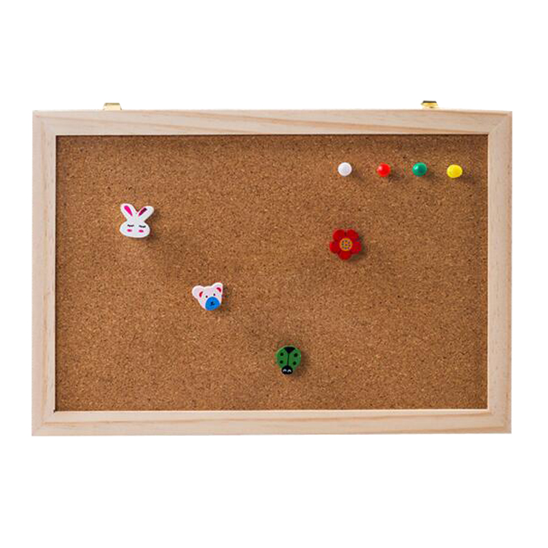 Cork Wood Message Board Phellem Cork Wooden Push Pin Hanging Board Wood Frame Single Soft Wood Wall Board String
