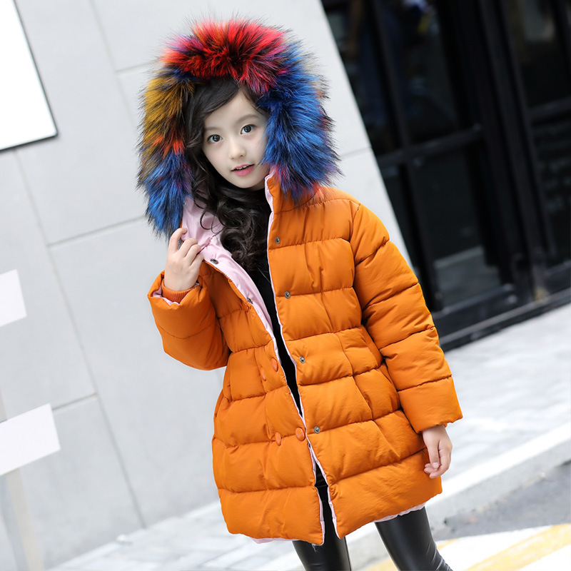 Children Winter Jacket Girl Coat Kids Warm Thick Fur Collar Hooded Kids Winter Outerwear Coats Thickened Warm Jacket H231 free shipping men s jacket winter slim thickened hooded jacket men s fashion slim thickened coat wn 110