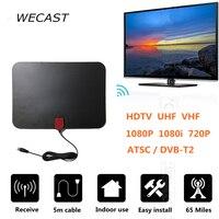 65 Miles Receiving Indoor Freeview HDTV TV Antenna Receiver TV FOX Digital Analog Antenna HD Support