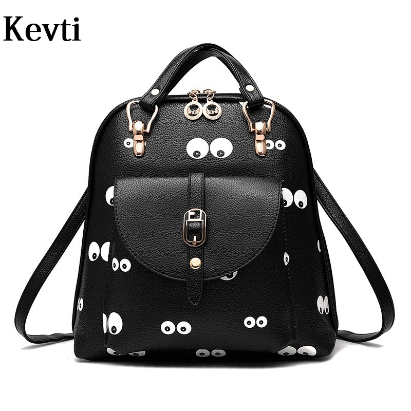 ФОТО New Leather Women Backpack Fashion printed Female day pack Casual ladies rucksack for Teenager girls students backpacks