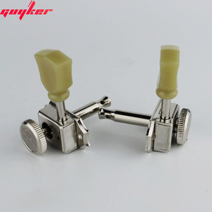 Image 4 - 1 Set GUYKER 3R3L Locking String Vintage Deluxe Electric Guitar Machine Heads Tuners Nickel /Chrome Tuning Pegs