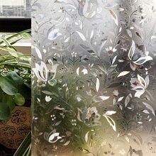CottonColors PVC Películas de TINTE de la Ventana, No-Pegamento Estática 3D Flor Decorativo Privacy Glass Window Sticker $ number Pies X $ number Pies. (90×200 cm)