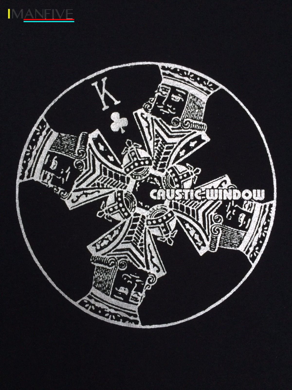 CAUSTIC WINDOW T SHIRT APHEX TWIN REPHLEX JOYREX ACID UK TECHNO BLACK DOG ETC in T Shirts from Men 39 s Clothing