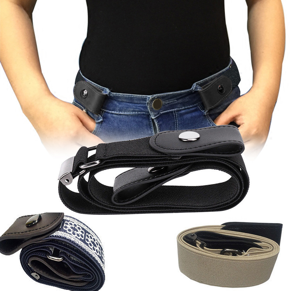 Woman Adjustable Invisible Valentine 39 s Day Gift Elastic For Jeans Waist Belt Comfortable Buckle free Casual No Bulge in Women 39 s Belts from Apparel Accessories