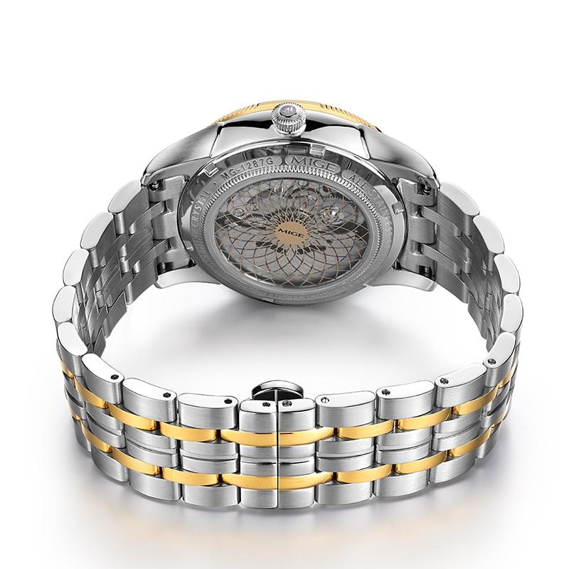 2018 Real New Sale Skeleton Mecánico Hombre Reloj Negro Blanco Acero - Relojes para hombres - foto 4