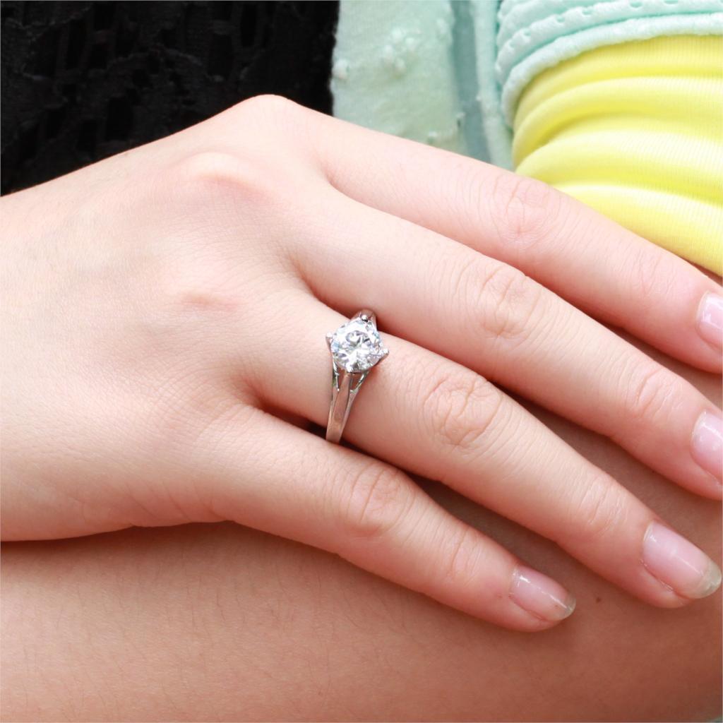 Cubic zirconia white gold big Imitation diamond engagement rings for ...
