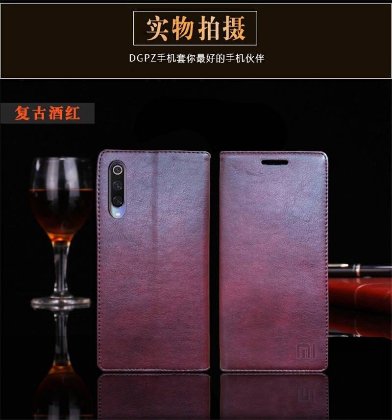 for Xiaomi Mi 9 Case Luxury Genuine Leather Flip Case for Xiaomi Mi 9 Magnetic Book Wallet Cover for Xaiomi mi9 Phone Coque Case11