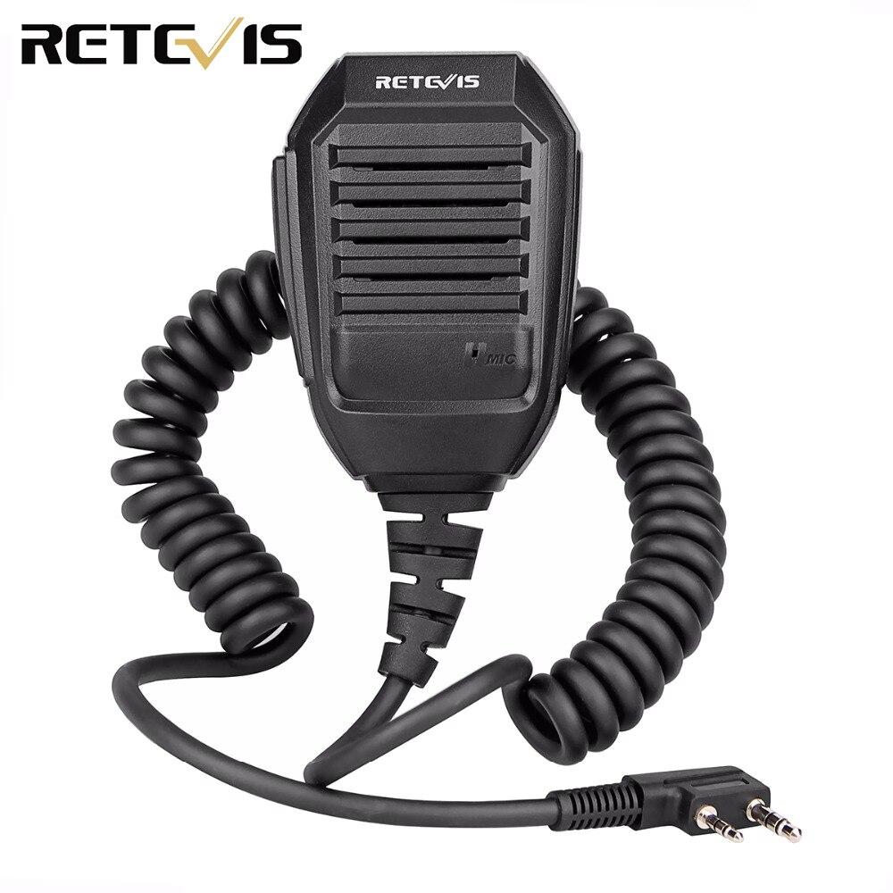 Retevis RS-113 2PIN À Distance Haut-Parleur Microphone pour Kenwood Retevis H777 RT22 RT24 RT3 Baofeng UV-5R Talkie Walkie C9057A