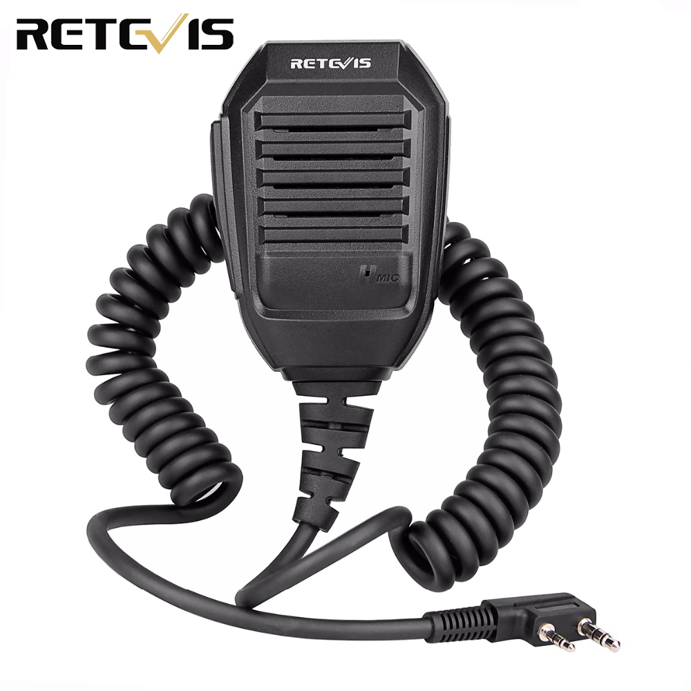 Retevis RS-113 2PIN Remote Speaker Microphone For Kenwood Retevis H777 RT22 RT24 RT3 Baofeng UV-5R Walkie Talkie C9057A