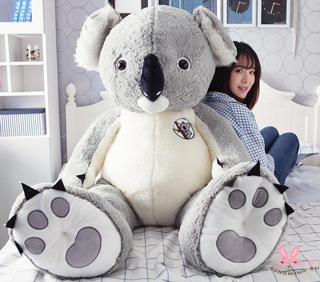80cm Height Giant Hung Big Australia Koala Cotton Plush Soft Toy Doll Stuffed Animal Gift
