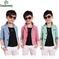 Boys Blazer Plaid Spring Suits For Wedding Jackets For Kids Korean Style Children Long Sleeve Blazers Baby Outerwear