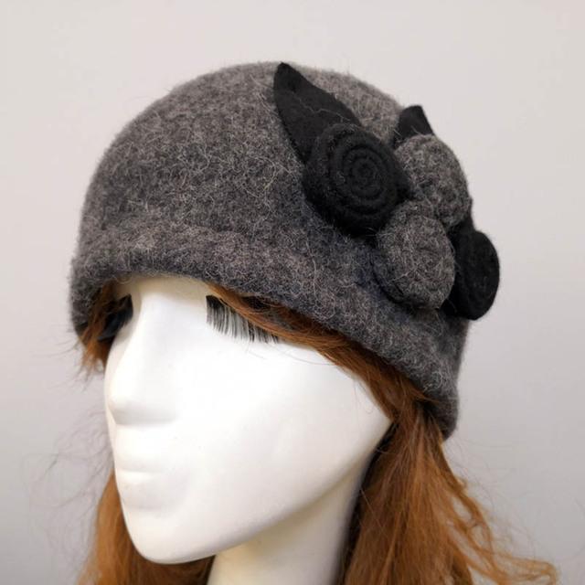 Boina de lana con cúpula para Otoño Invierno