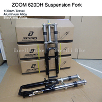 Excelli ZOOM Moutain Bike26 Fork Locking Shocking Fork Alumimium Alloy Downhill Bike 26 Disc Brake Travel