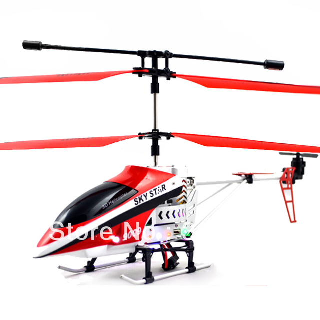 Free Shipping Mid Size 29cm 4CH Channel Shatter Resistant Metal Frame RC Helicopter Toy with Lights +USB Charging Line