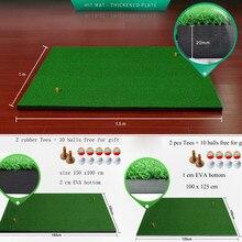 Дворе гольф мат разных размеров закрытый жилой практика тренировочные для гольфа вождения Мат гольф наезд коврики резиновый мяч тройник бесплатная