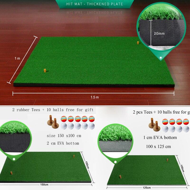 Tapis de Golf d'arrière-cour différentes tailles entraînement résidentiel d'intérieur tapis de conduite de Golf tapis de frappe de Golf balle en caoutchouc libre